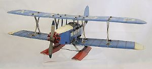 Meccano 1930s Constructor Set No.12 - Military Floatplane - assembled SOLD